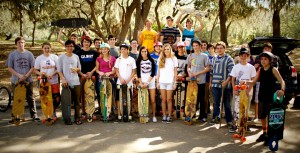 The LONGing for Hope club comes together at their recent event. The race was designed to help raise money in a fun atmosphere. Prizes were donated by various longboard retailers and were awarded to the winners of the different heats that took place throughout the day.