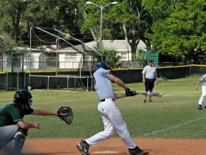 Sammy May taking batting practice last season. He is enrolled at the Merchant Marine Academy but is currently on leave due to his cancer.