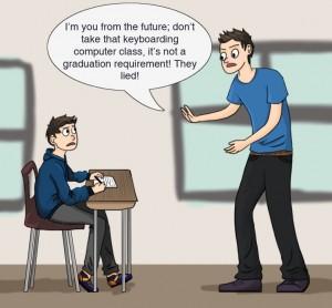 Senior from the future cartoon