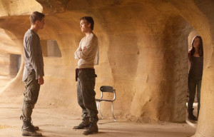 A protective Ian (Jake Abel) stands between Jared and Wanda.